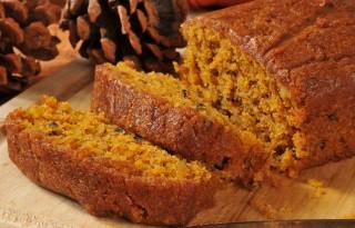 Fresh baked pumpkin bread