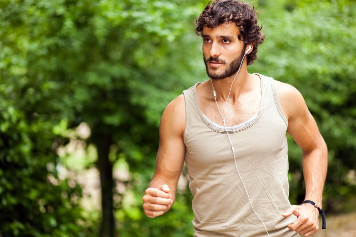 Young man doing jogging outdoor