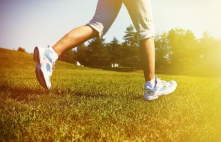 Jogging woman. Fitness and sport concept background.