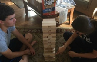 jenga giant during play