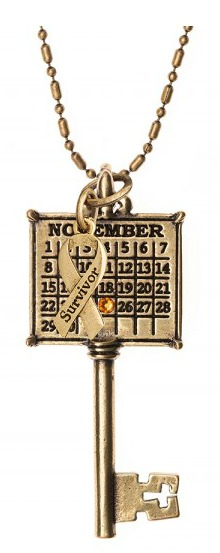 Not Just Any Old Day Survivor Calendar Key Necklace