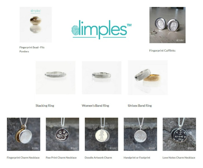 Dimples Personalized Jewelry Products