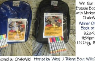 Win Your Own Erasable Backpack with Markers from ChalkWild