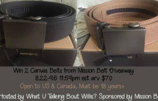 Mission Belt Giveaway