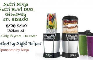 Enter to Win a Nutri Ninja Nutri Bowl DUO (arv $139)